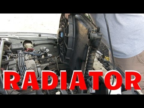 HOW TO INSTALL 1994-2004 MUSTANG RADIATOR GT 46 50 - YouTube