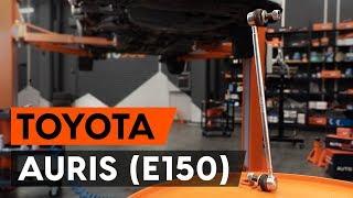 Como substituir a tirante da barra estabilizadora dianteiros no TOYOTA AURIS 1 (E150) [AUTODOC]