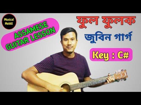 Phool Phoolok | Zubeen Garg | Assamese guitar tutorial