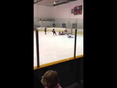 Jayden Vass Playing First Year Novice Hockey In Calgary, Alberta Putting On The Moves...