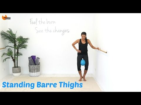 BALLET BARRE WORKOUT Barre Thighs - Barlates Standing Barre Thighs with Linda Wooldridge