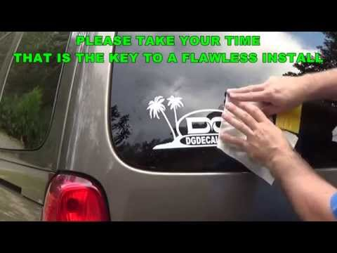 How To Install A Vinyl Decal Using Wet Install Top Hinge Method For Vehicle Graphics