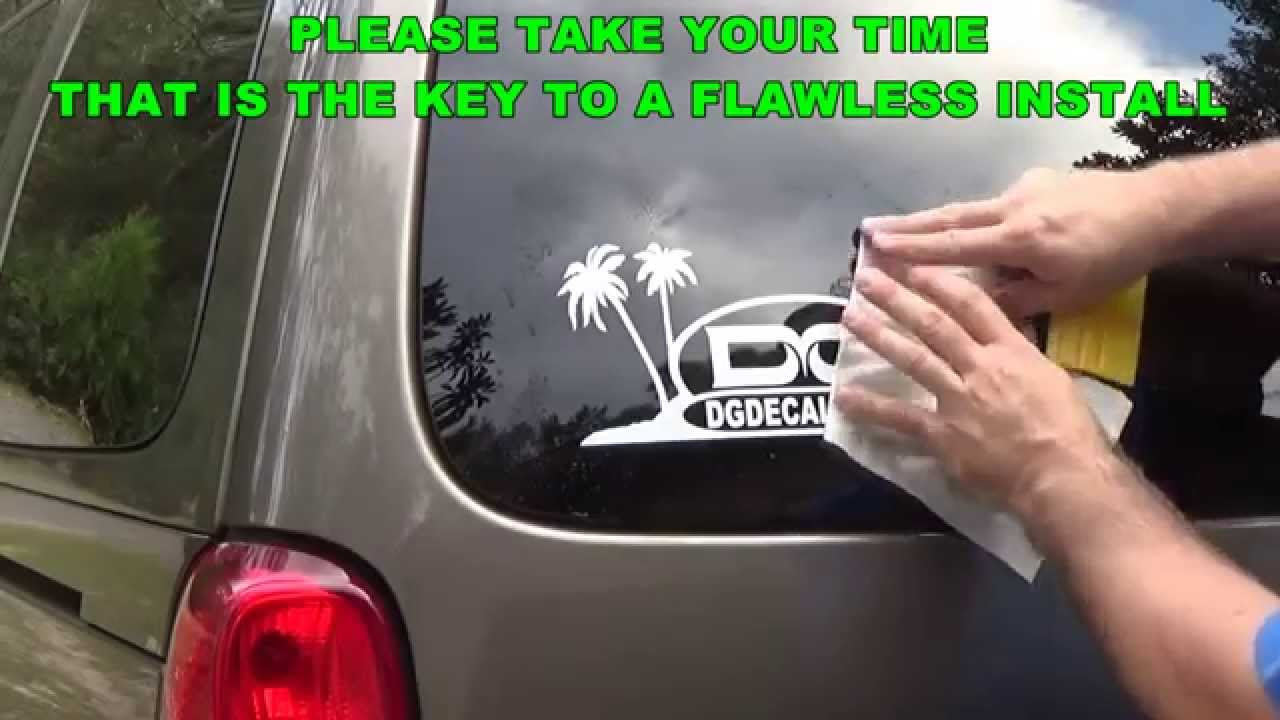 How To Install A Vinyl Decal Using Wet Install Top Hinge ...