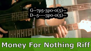 Lesson: Money For Nothing [w/ TAB] - Guitar Tutorial