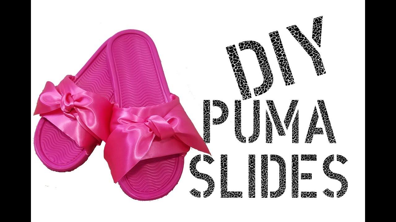 3b4a02b49935 DIY Rihanna Fenty Puma Slides - YouTube