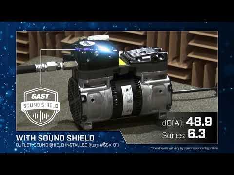 GAST Sound Shield Patent Pending Noise Reduction Technology