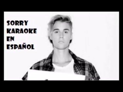SORRY en español -Karaoke