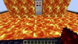 Minecraft - Super secret entrance lava house
