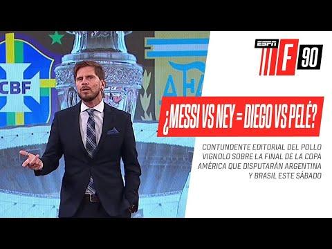 ¿#Messi vs. #Neymar es el nuevo #Diego vs. #Pelé? ¡CONTUNDENTE EDITORIAL de #Vignolo!