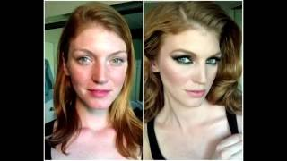 Порно актрисы с макияжем и без  Porn actress makeup and without