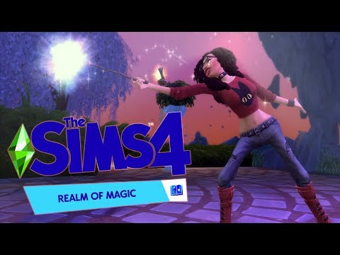 SIMS 4 REALM OF MAGIC - witches are predators!!!! (new game pack)