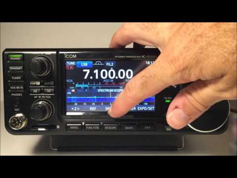 Icom IC-7300 HF/50mhz transceiver complete review demo