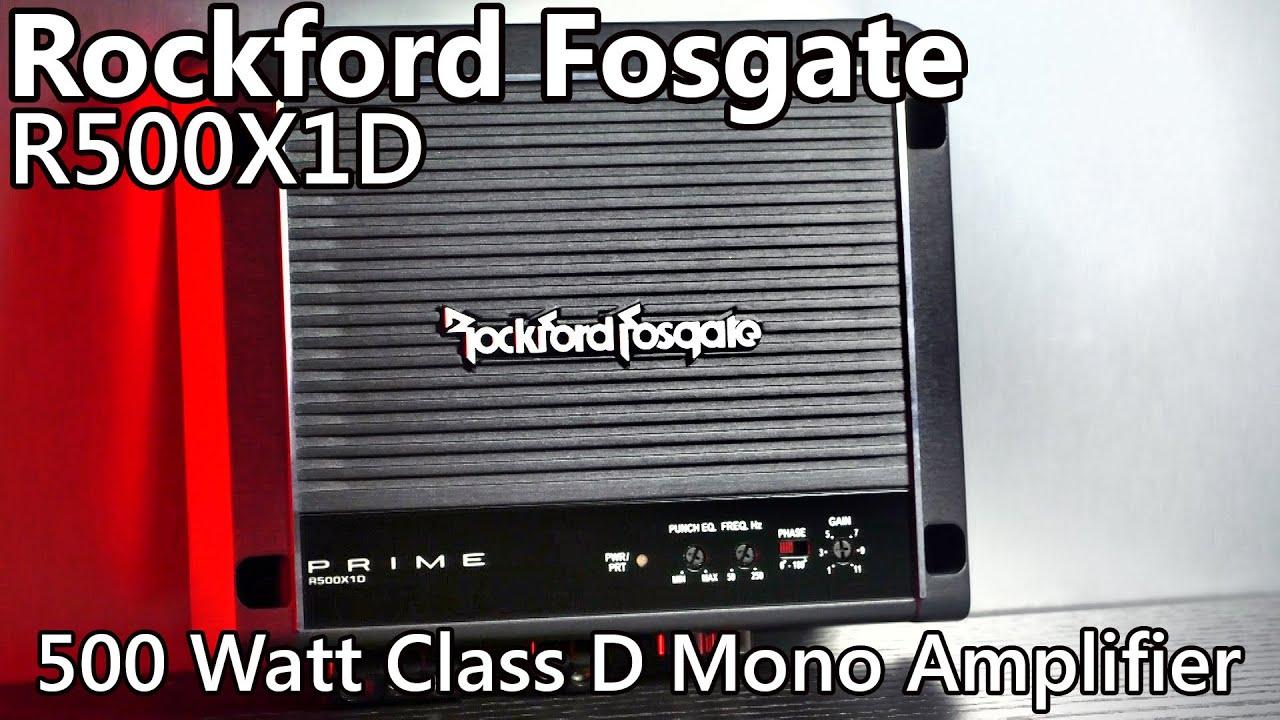 Rockford Fosgate R500x1d 500 Watt Car Amplifier Youtube Kicker Cvr 12 4 Ohm Wiring Diagram