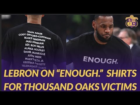 Lakers and Hawks Players Wear #Enough Shirts for Thousand Oaks Shooting Victims