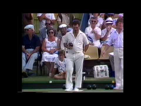 Lawn Bowls: Rob Parrella Vs Willie Wood - 1983 - Best Driver Of All Times!!!