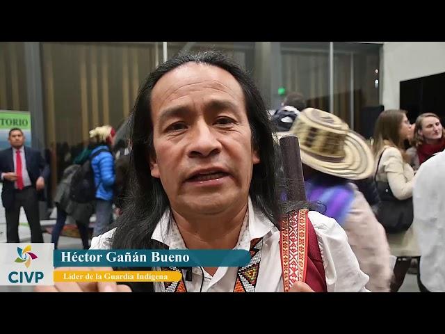 Héctor Gañán saluda a la CIVP