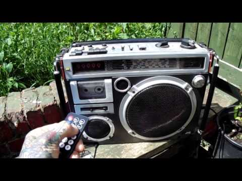 SD card cassette tape mp3 player with the JVC RC 500L BOOM BOX