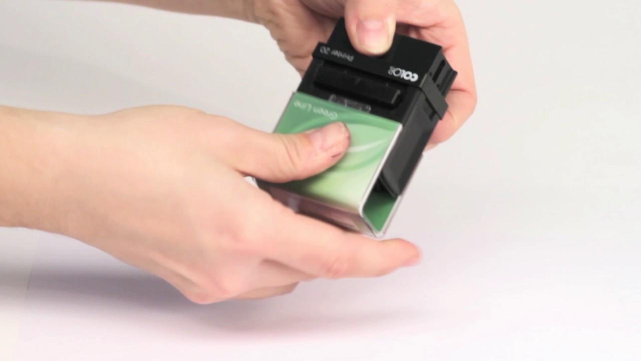 TimbroGreen Line con inchiostro rosso Colop Printer 20