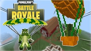 FORTNITE BATTLE ROYALE IN MINECRAFT! Minecraft BATTLE Royale Server! 8 KILL VICTORY!