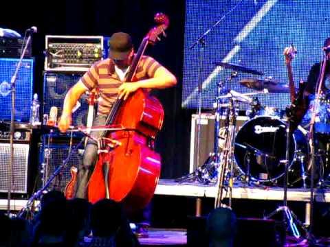 Stanley Clarke with double bass on Bratislava Jazz Days 2008