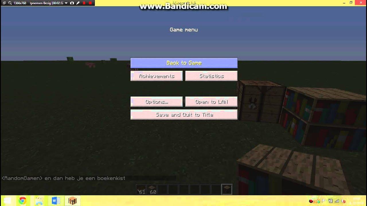 hoe maak je een boekenkast op minecraft