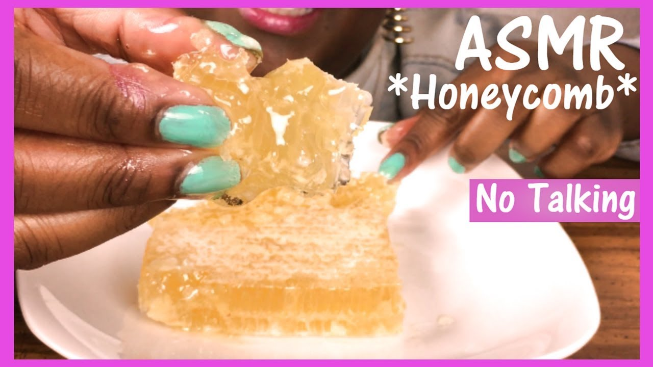 Asmr No Talking Raw Honeycomb Extreme Sticky Eating Sounds