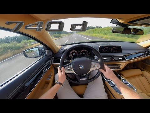 BMW 7 Series 2017 740d ACCELERATION & TOP SPEED Interior POV Test Drive AUTOBAHN