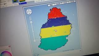 Mauritius flag map speed art