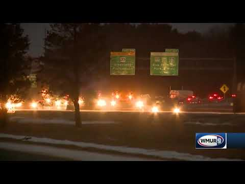 Snow causes spinouts on NH roads