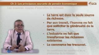Chapitre 2: Les principaux courants de la pensée économique partie 1