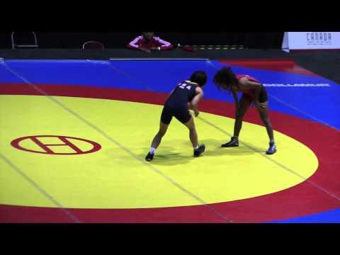 2014 Junior Pan-American Championships: 48 kg Vicmarie Requena (PUR) vs. Amy Hou (USA)