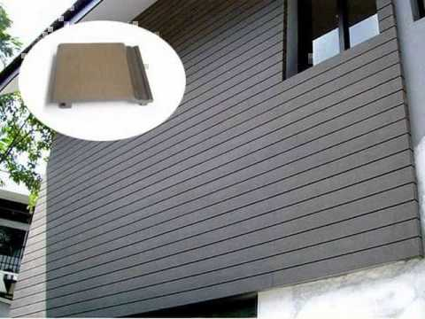 Wall panel exterior house use composite material youtube for External wall materials