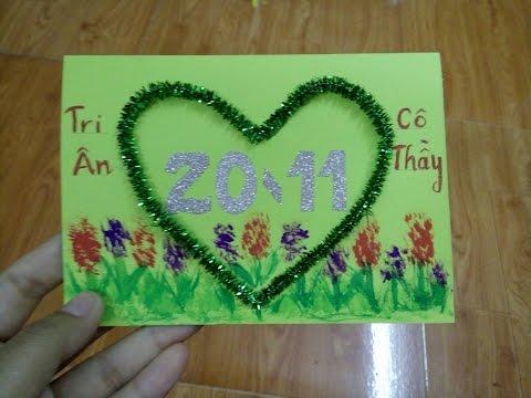 Hướng dẫn làm thiệp chúc mừng ngày nhà giáo Việt Nam 20/11