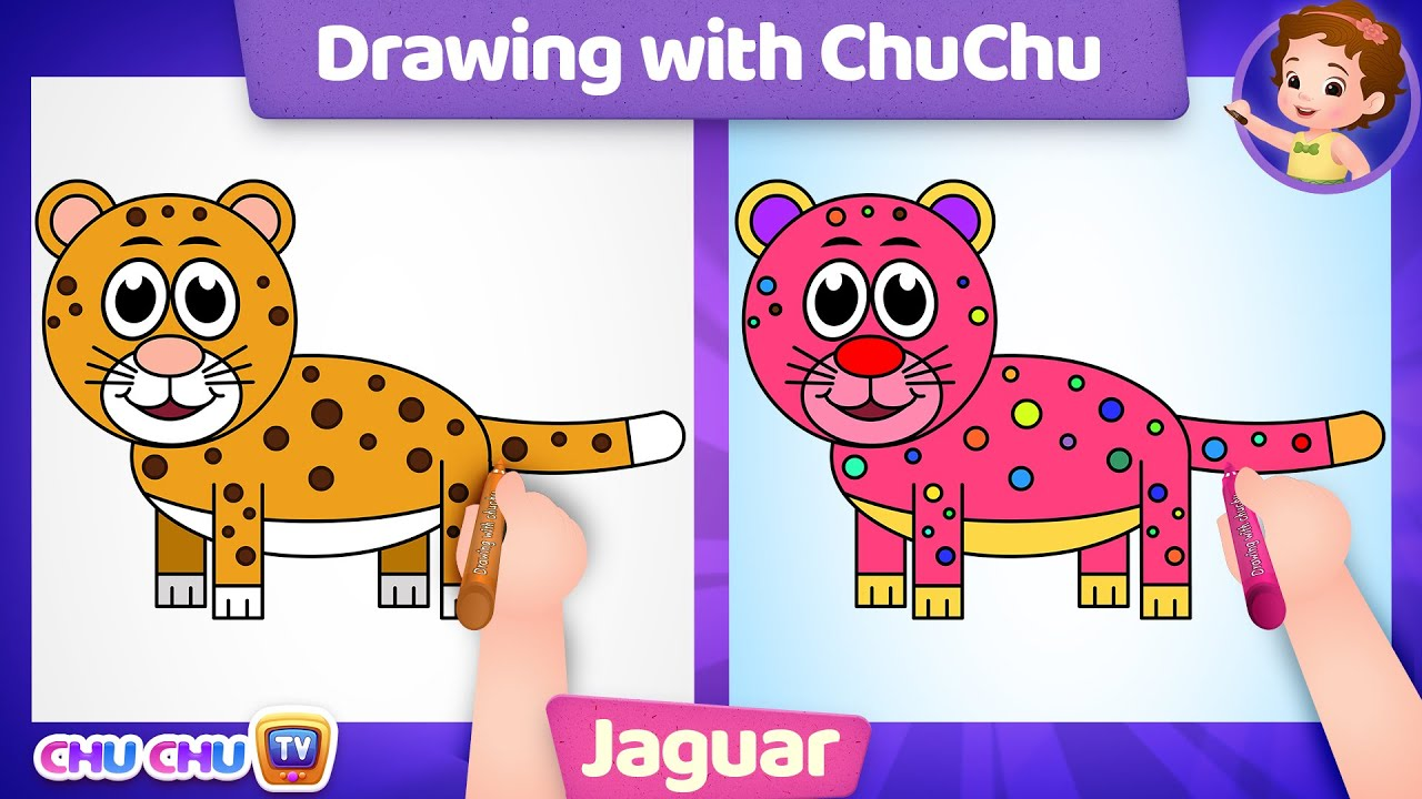 How to Draw a Jaguar Step by Step? - Drawing with ChuChu - ChuChu TV Drawing Lessons for Kids