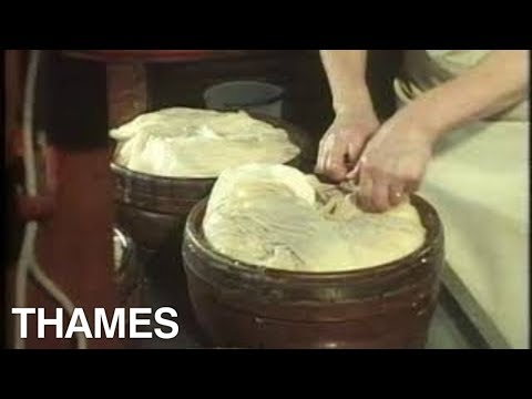 How to make Gouda cheese | Cheese Production | Holland | Seeing and Doing | 1977