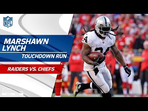 Marshawn Lynch Breaks Big Tackle to Take in the TD vs. KC! | Raiders vs. Chiefs | NFL Wk 14