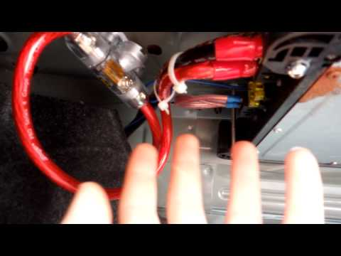 How To Wire A Sub Woofer Amplifier / Hide The Wires Mazda 3 2006