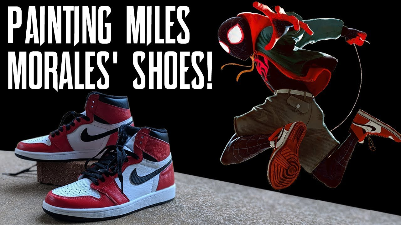 e30db288f815 Custom Painting Miles Morales  Shoes from