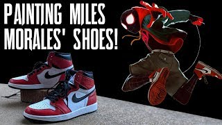 Custom Painting Miles Morales' Shoes