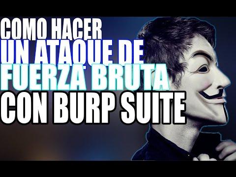 Ataque de fuerza bruta con Burp Suite bien explicado 2016