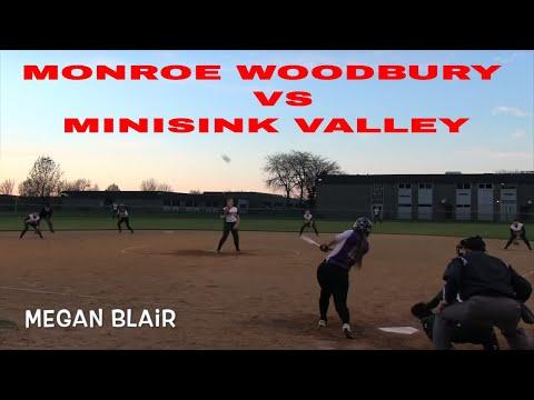 Throwback Varsity Softball Monroe Woodbury vs Minisink valley High School Softball