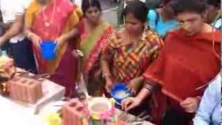 Church members preparing to celebrate Pongal