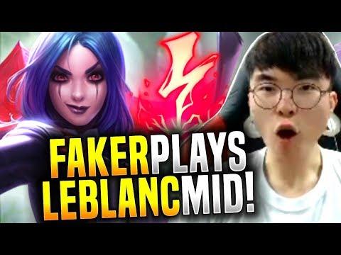 FAKER LEBLANC needs to be PERMABANED! - SKT T1 Faker Picks Leblanc Mid! | SKT T1 Replays