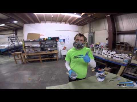 Spraying 2 Part Epoxy Primer & Topside Paint