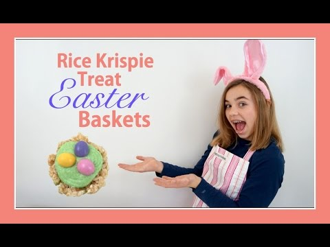 RICE KRISPIE TREAT EASTER BASKETS | KATIE IN THE KITCHEN | Flippin' Katie