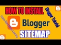 How to Install Blogger Sitemap Support All Blog 2017, How To Earn Money With Blogger Tutorial 2017