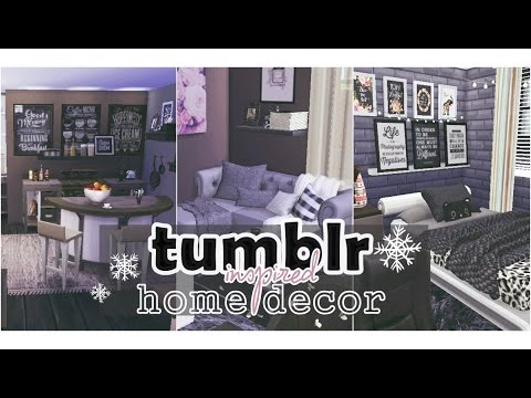 The Sims 4 Tumblr Inspired House Decor 3 Youtube