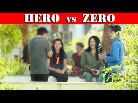 HERO vs ZERO on HOT GIRLS || Beatbox in INDIA || Fuddu prank