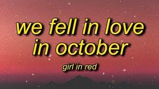 Buy girl in red - we fell love october (lyrics): https://open.spotify.com/track/1byzxksf0atxp8zfoeym3d?si=9z57wt8isfqu3d_41jv67g ⭐ subscribe: https://b...