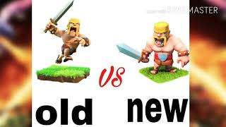 Clash of Clans new Vs old troop images ||Techno Gaming Master